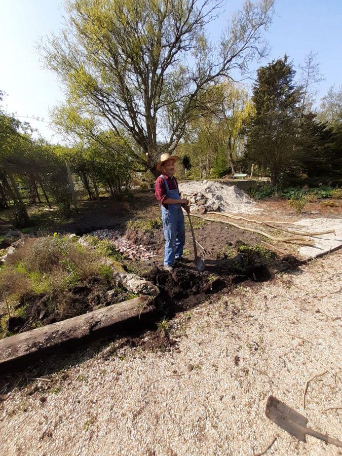 wadi wordt gegraven